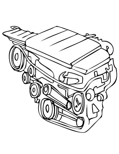 Car Engine Drawing at GetDrawings.com | Free for personal