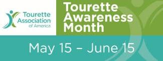 Tourette Awareness Month Banner - Tourette Associatione of America logo
