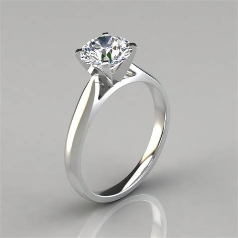 Petite Cathedral Solitaire Engagement Ring   PureGemsJewels