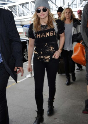 Chloe Moretz at LAX Airport -02
