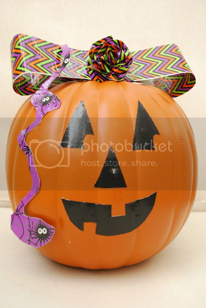 The Shabby Nest Miss Muffet Pumpkin photo ShabbyNestDuckTapePumpkinLittleMissMuffet.jpg