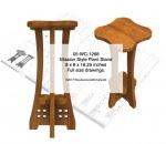 Mission Style Plant Stand Woodworking Pattern - fee plans from WoodworkersWorkshop® Online Store - plant stands,mission style,yard art,painting wood crafts,scrollsawing patterns,drawings,plywood,plywoodworking plans,woodworkers projects,workshop blueprints