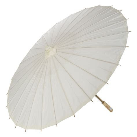 """20"""" BeigeIvory Paper Parasol Umbrella"""
