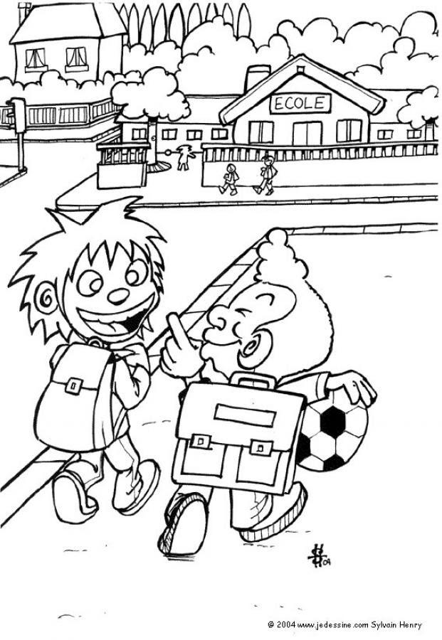 Dibujos Para Colorear En El Camino De La Escuela Eshellokidscom
