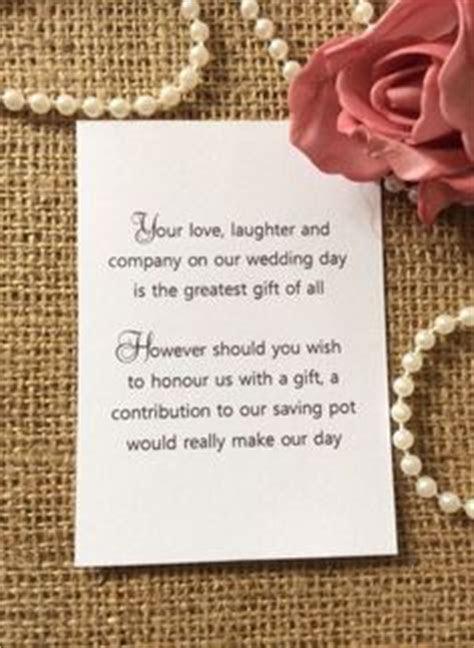5 x Wedding Poem Cards For Invitations   Money Cash Gift