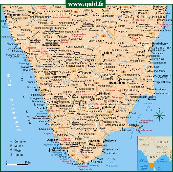 south india road map pdf