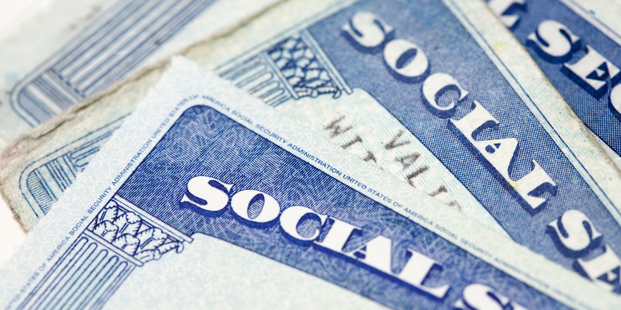 Close up of a stack of Social Security cards