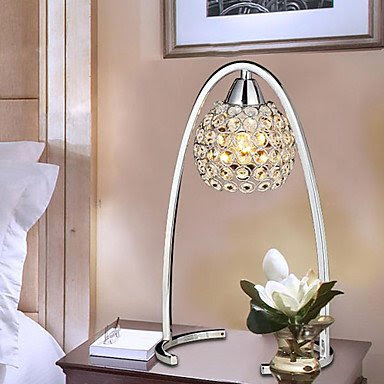 CREATIVE TABLE LAMP WITH CRYSTAL DECORATION