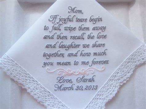 Custom Embroidered Mother of the Bride Personalized