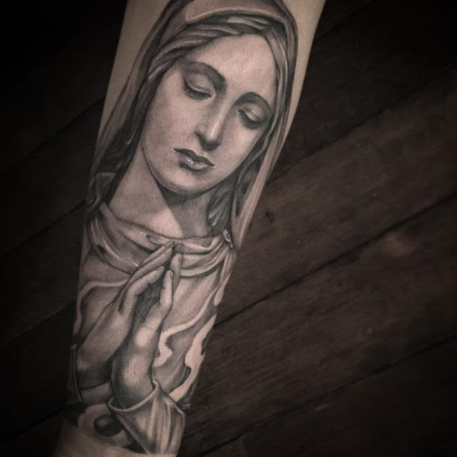 55 Lovely Virgin Mary Tattoo Ideas The Classy And Timeless Design