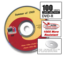 Transfer video to Platinum DVD