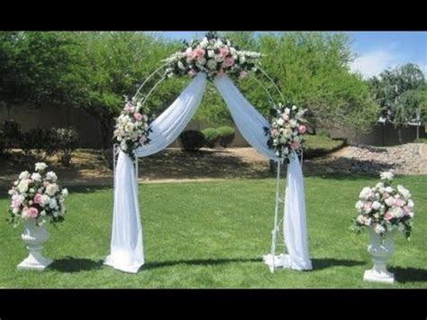 Diy Wedding Arch Decoration Ideas   YouTube