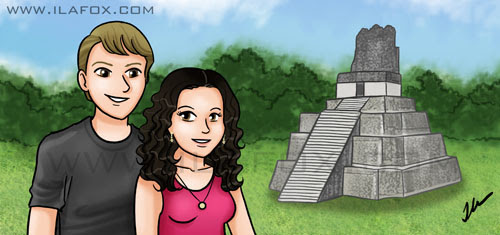 Cabeçalho para blog, fundo Tikal, Maia, by ila fox