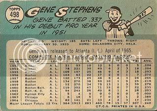 #498 Gene Stephens (back)