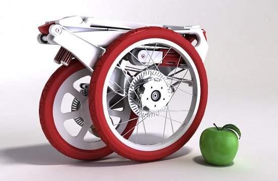 Bicicleta que cabe em uma pasta