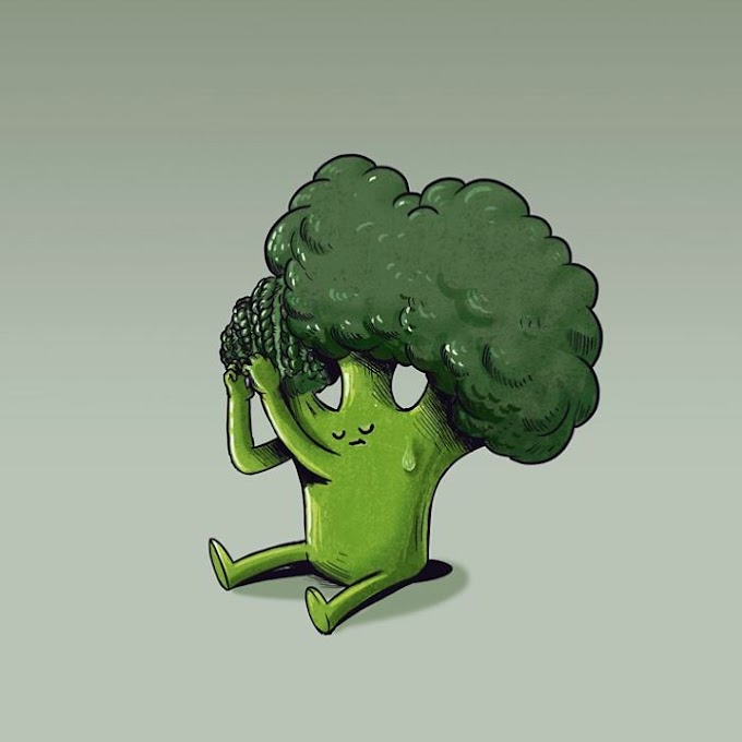 30 Funny Illustrations Show What Fruits & Vegetables Would Do If They Were Alive