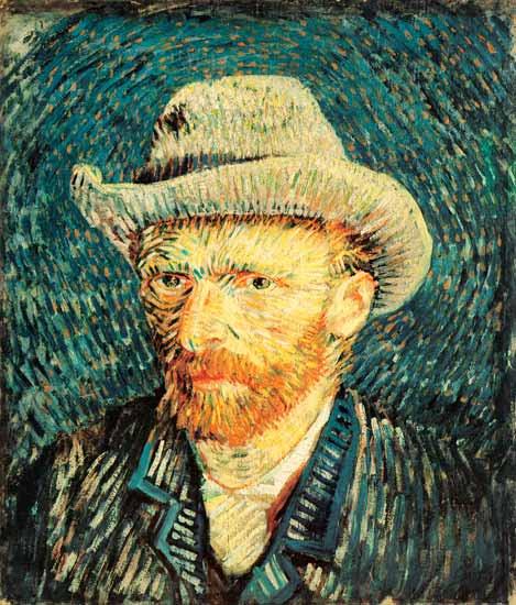 Vincent Van Gogh - Self Portrait with Grey Hat