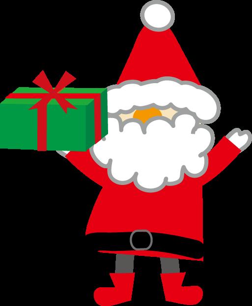 クリスマスのイラストサンタクロースのクリスマスプレゼント 無料