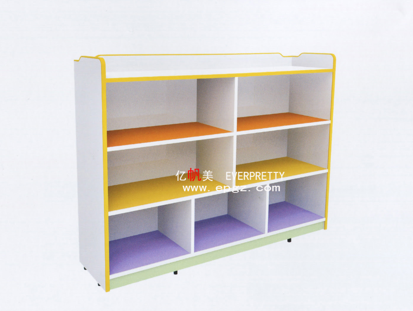 Storage Unit Kids Cabinet Container Book Shelf for Kindergarten Furniture SF 17WB