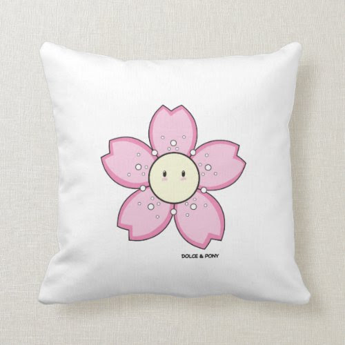 Dolce Pink Flower | Throw Pillow Dolce & Pony