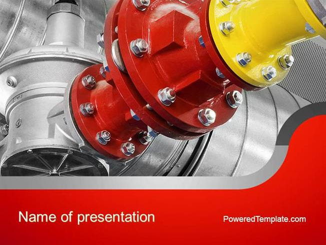 Industrial Pipe Junction Powerpoint Template By Poweredtemplate Co Authorstream