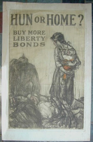 Further demonization of those whom the Zionists wished us to hate: World War 1 poster