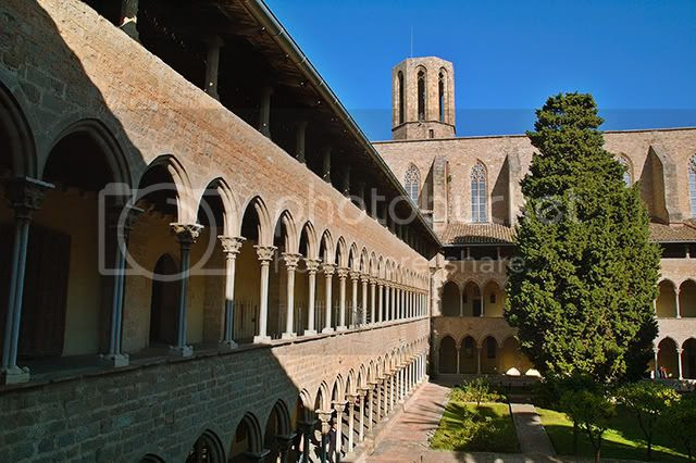 Pedralbes Gothic Monastery in Barcelona, Spain [enlarge]