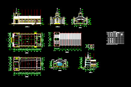 Church construction drawings Free download AutoCAD Blocks --