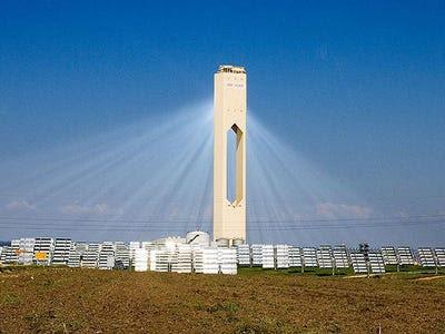 solar power tower spain. In 2007, Seville, Spain