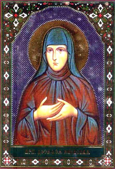 IMG ST. DOSITHEA Nun of Moscow