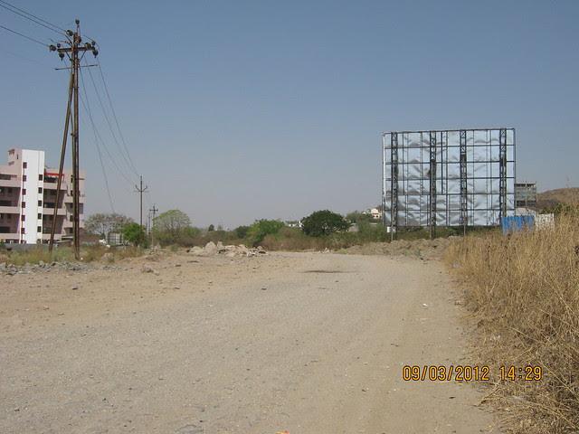 Road to  Amit's Gaia Pride Platinum near Pancard Club Baner Pune