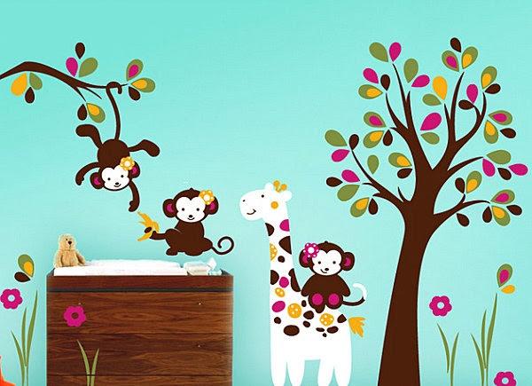 Babyzimmer in fröhlichen Farben gestalten   Dekoidee