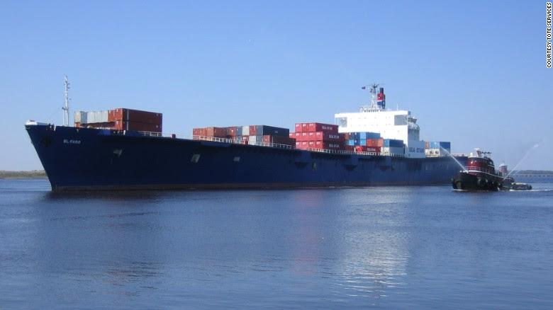 وشركة فارو: سفينة الحاويات في عداد المفقودين في إعصار خواكين.