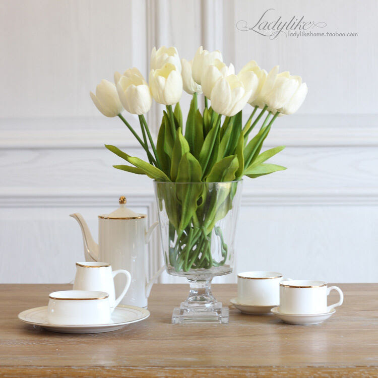 artificial wedding real touch flowers arrangements tulip artificial flower latex real touch
