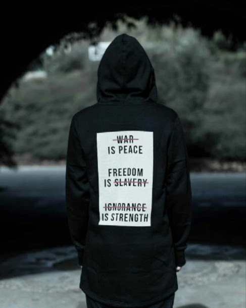 Jacket Hoodie Quote On It Black White Red War Is Peace