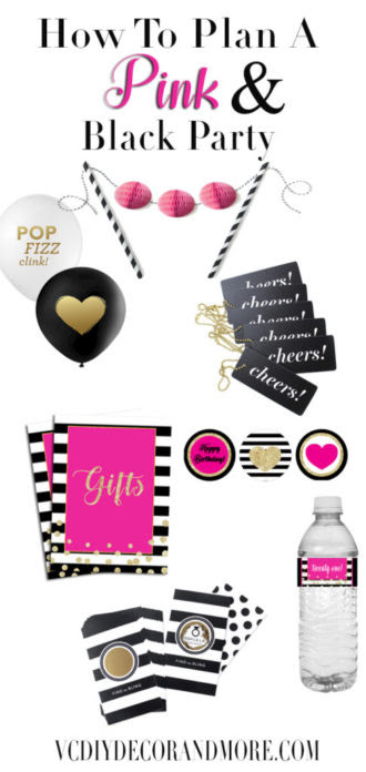 Pink Party Ideas How To Plan An Amazing Pink And Black Party Vcdiy
