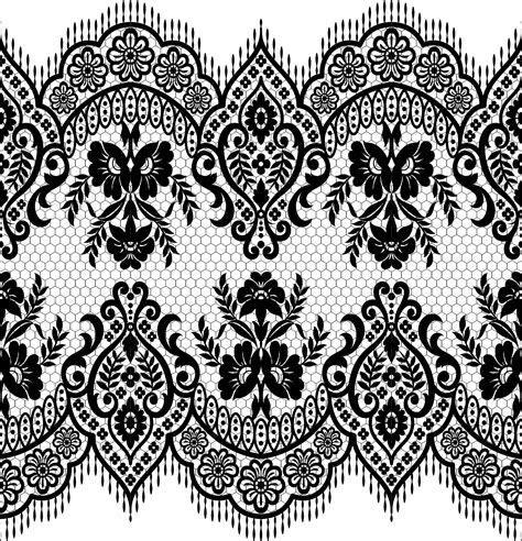 Lace seamless borders vectors set 02   Vector Floral