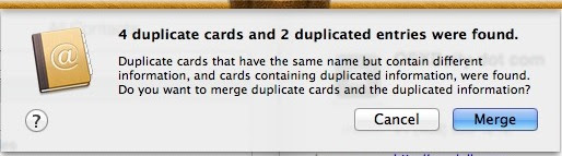 Merge duplicates in Contacts to sync with iPhone