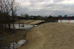 Reconstructed levee