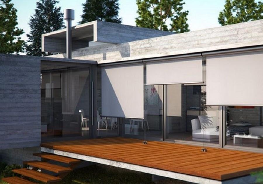 Casa moderna roma italy tende da sole a rullo for Casa moderna tende