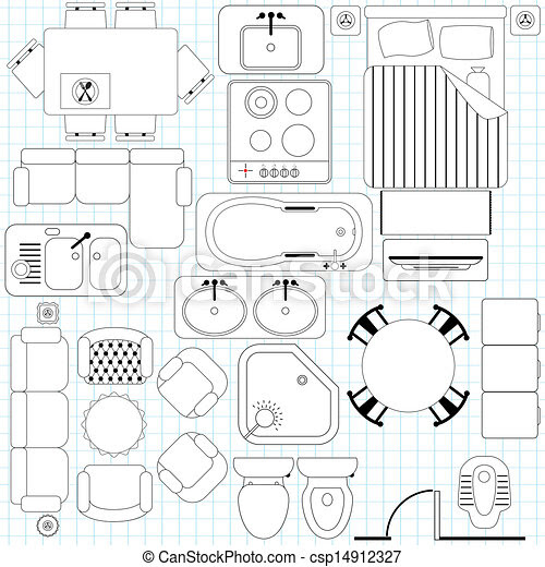 Furniture Clip Art for Floor Plans