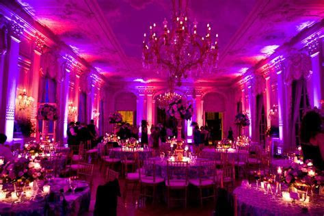 Pink & Purple Uplighting @ Rosecliff Mansion, Newport, RI