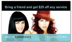 CPS-1011 - salon coupon card