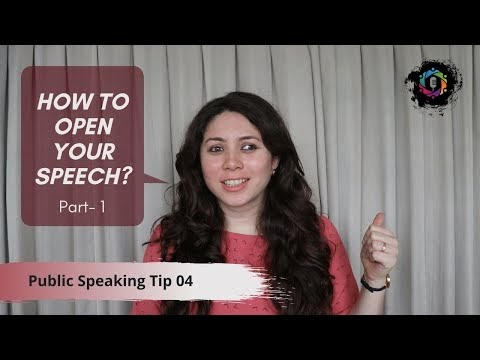 Public Speaking Tips: How to open your Speeches? | Nancy Shah | Part-2