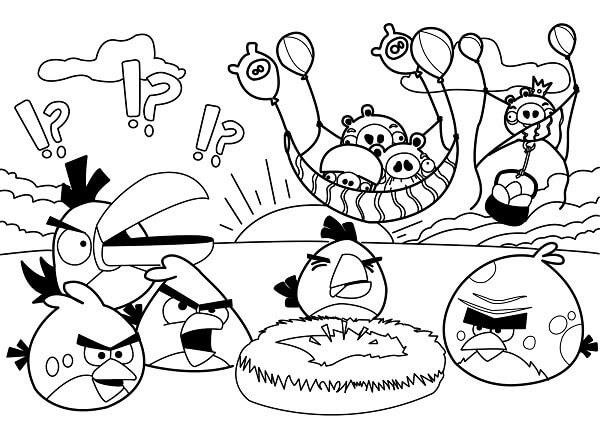Angry Birds Boyama Sayfaları