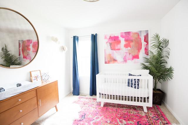 Girl's Mid Century Modern Nursery with product links ...