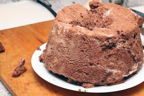 Chocolate angelfood cake