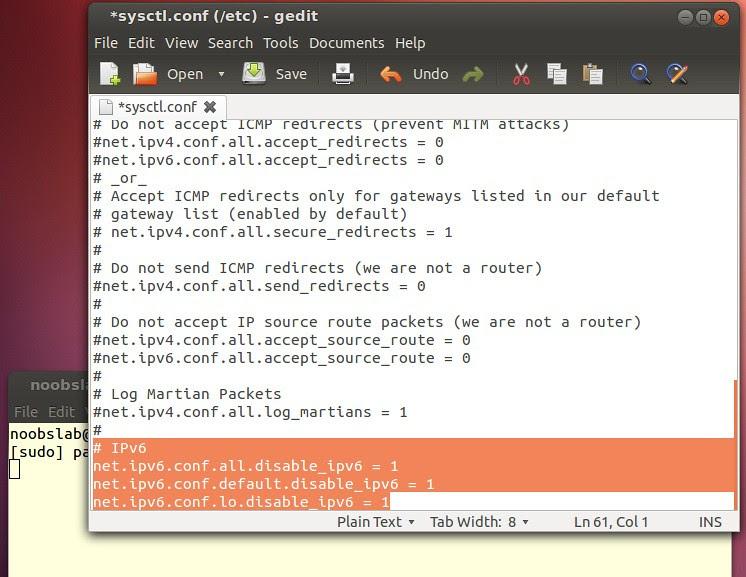 ubuntu ipv6 disable