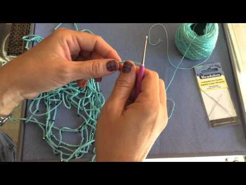 How to...crochet...crystal chain necklace!