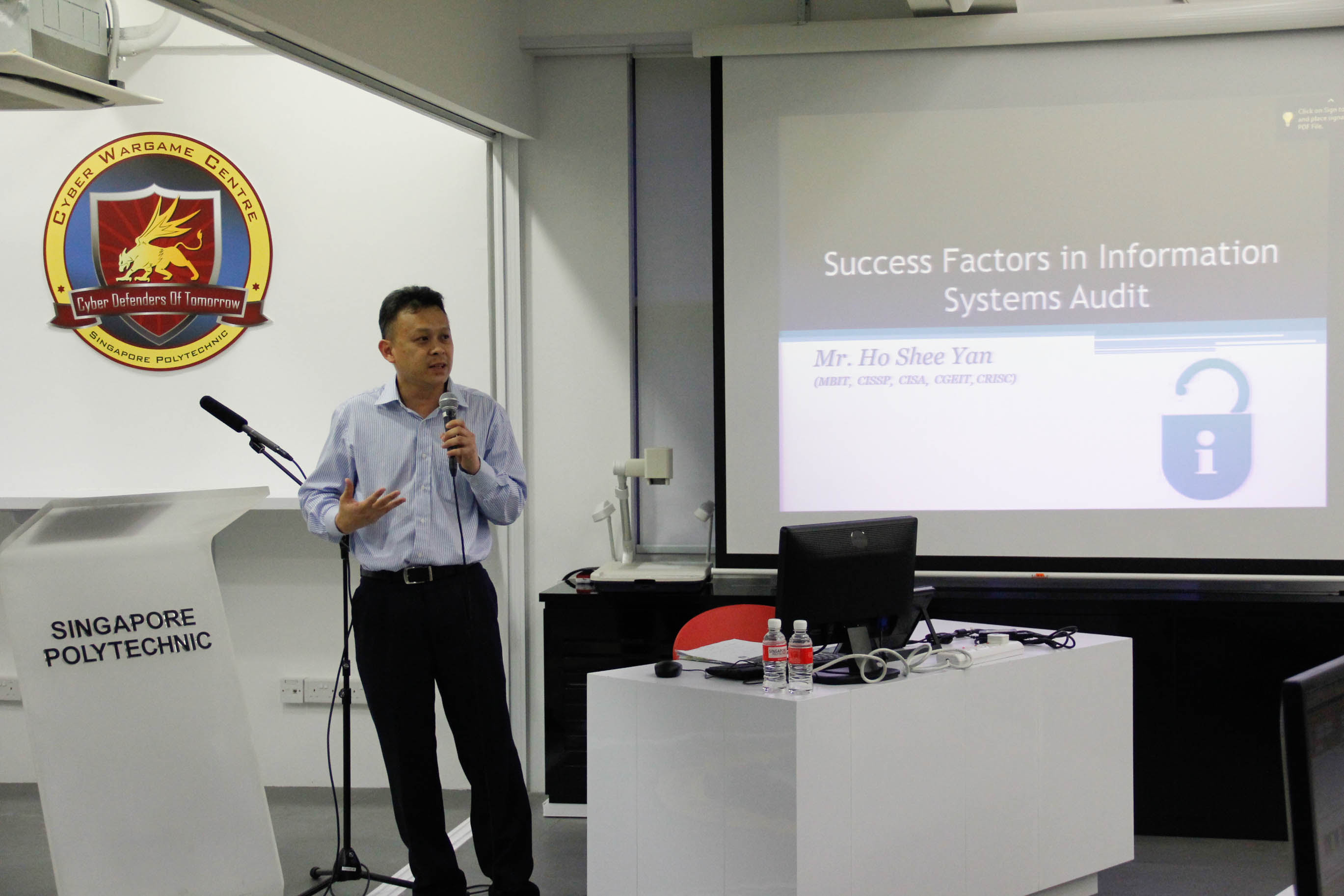 "Mr Ho Shee Yan sharing on ""Success Factors on Information Systems Audit"""
